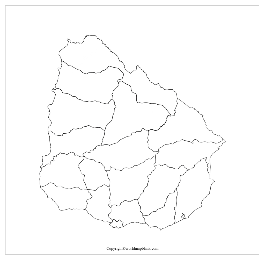 Transparent PNG Blank Map of Uruguay