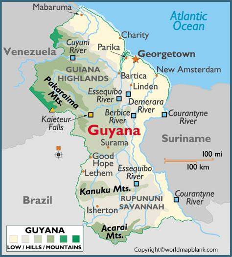 Labeled Map of Guyana with Capital