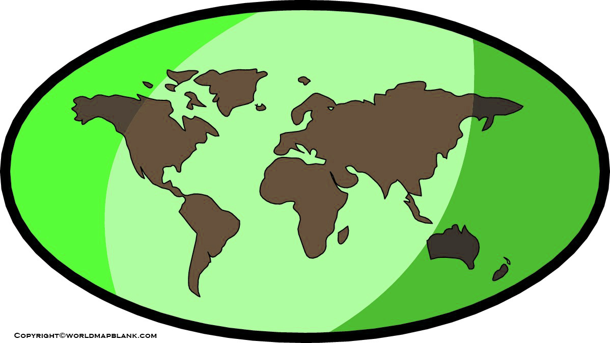 Printable World Map Clipart