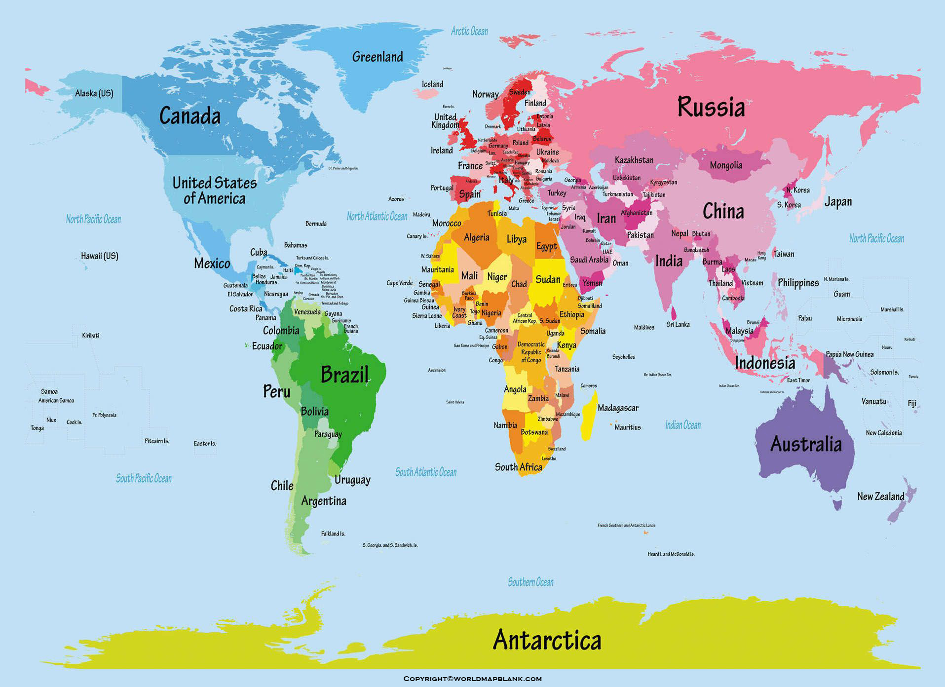 World Map for Students