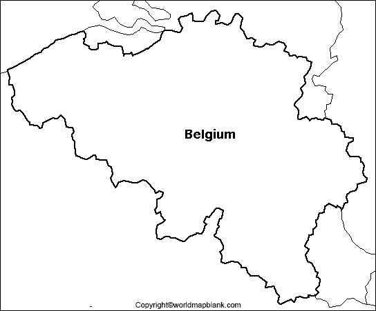 Blank Map of Belgium - Outline