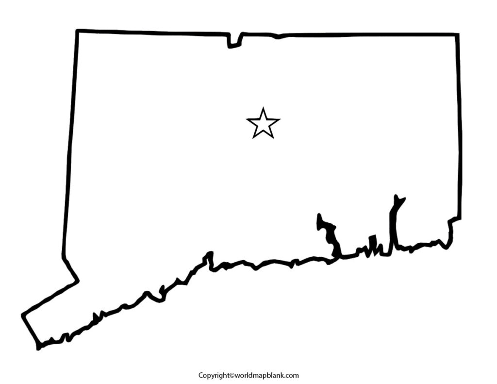 Blank Map of Connecticut Map worksheet
