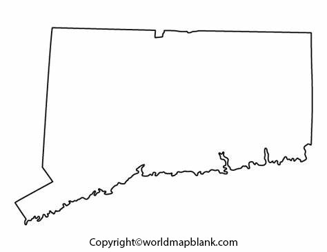 Blank Map of Connecticut - Outline