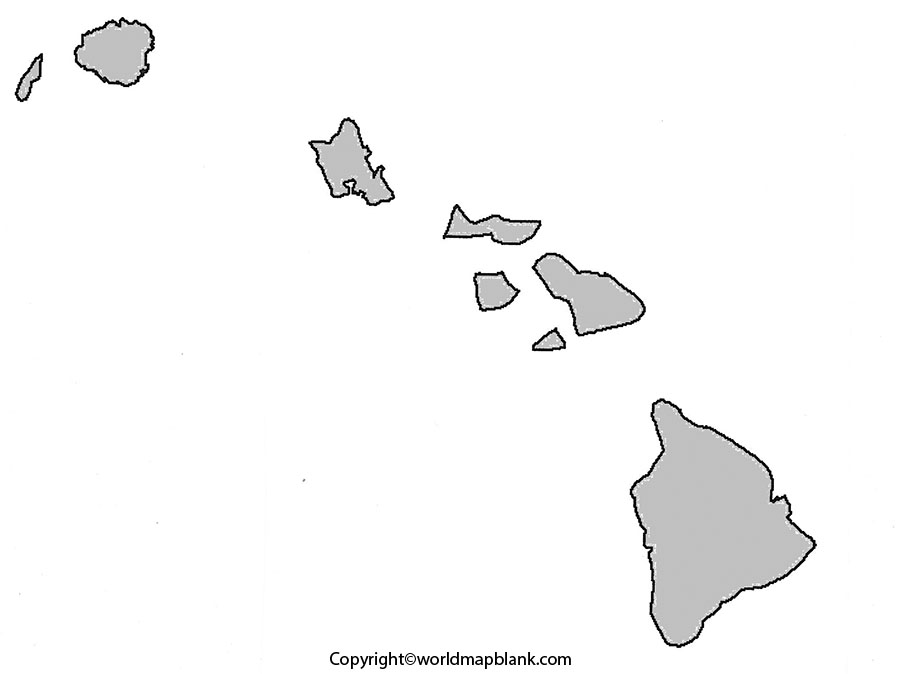 Blank Map of Hawaii - Outline