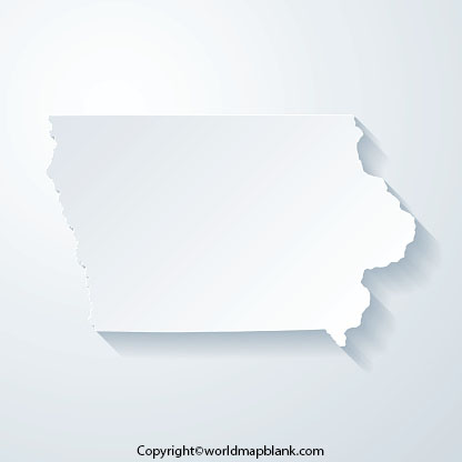 Blank Map of Iowa - Outline