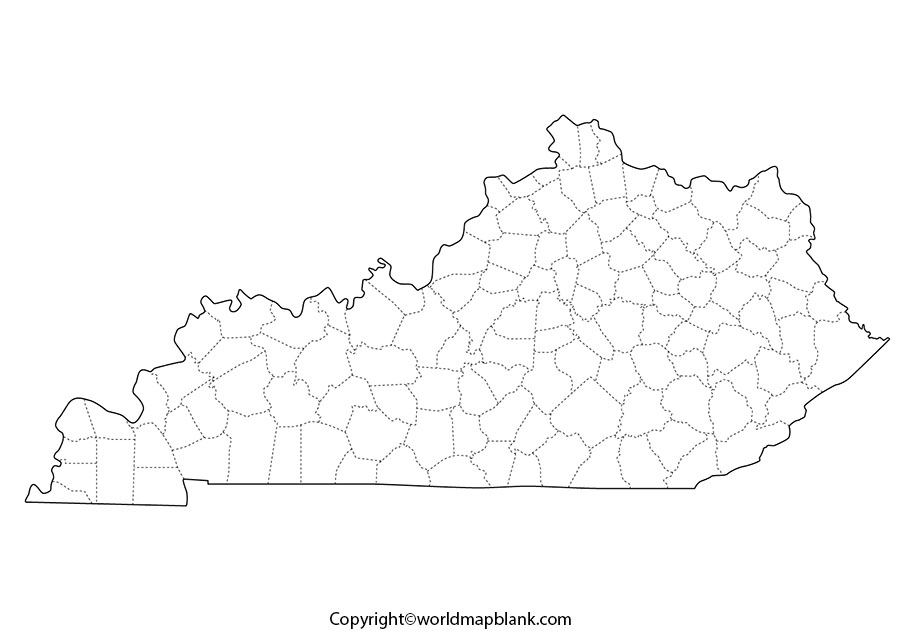 Blank Map of Kentucky - Outline