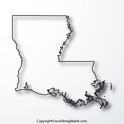 Louisiana Map worksheets For Practice