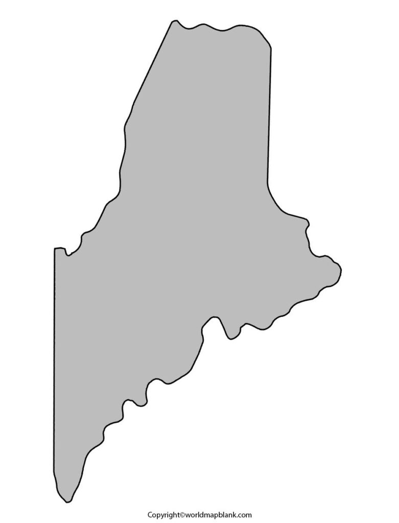 Blank Map of Maine - Outline