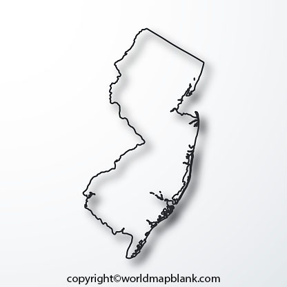 Blank Map of New Jersey - Outline