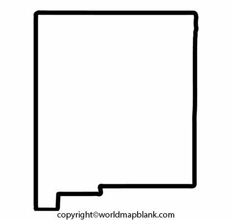 Blank Map of New Mexico