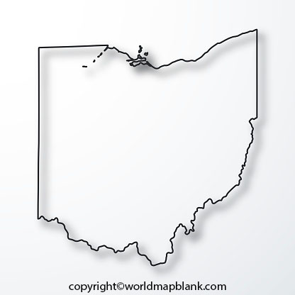 Blank Map of Ohio - Outline