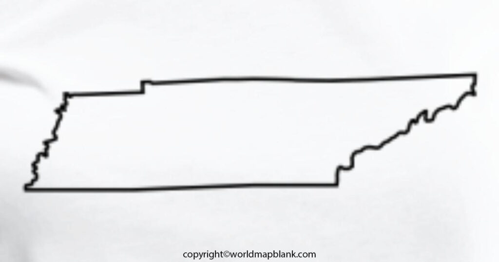 Transparent PNG Blank Map of Tennessee