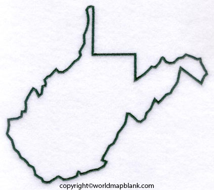 Blank Map of West Virginia - Outline