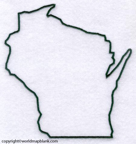 Printable Map of Wisconsin