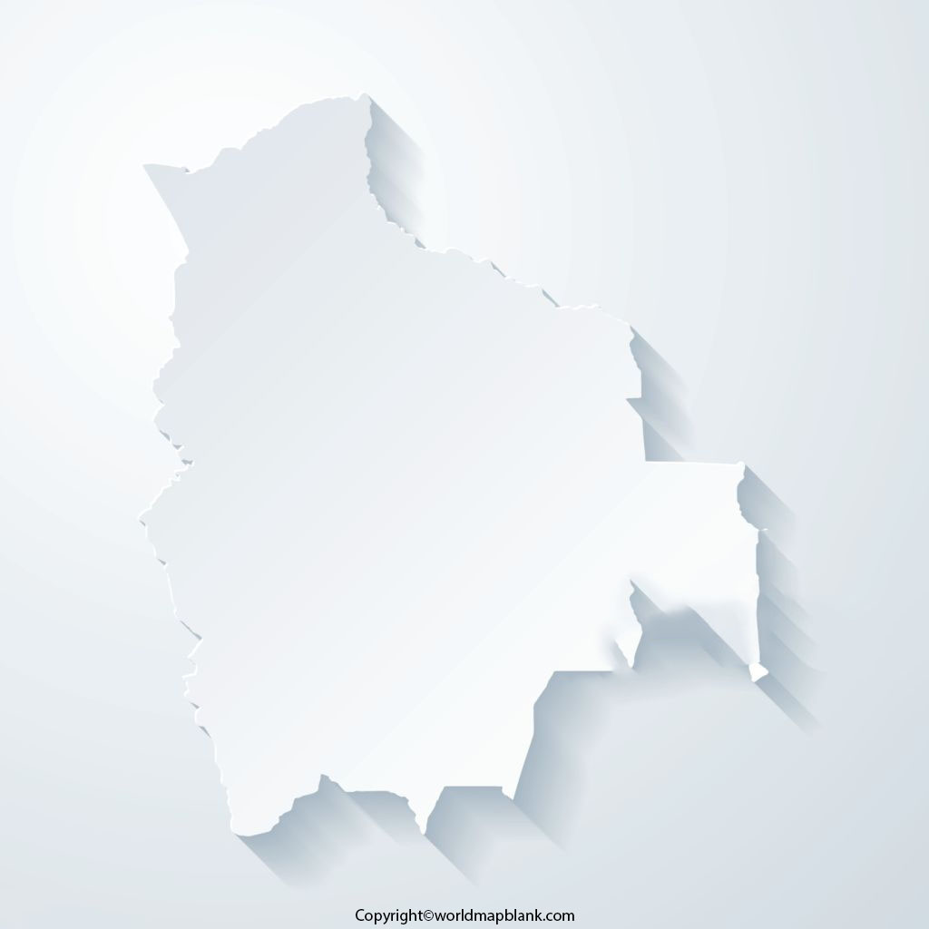 Blank Map of Bolivia - Outline