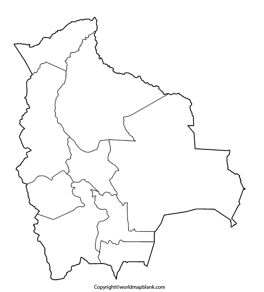Blank Map of Bolivia
