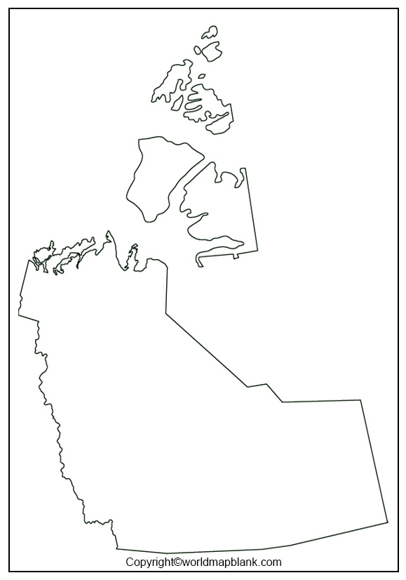 Blank Map of Northwest Territories - Outline
