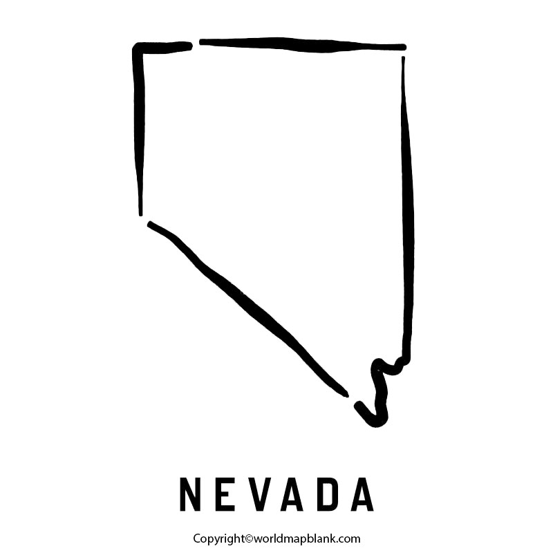 Transparent PNG Blank Map of Nevada