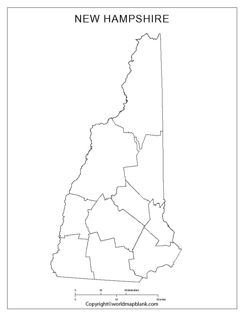 Printable Map of New Hampshire