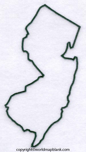 Printable Map of New Jersey