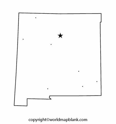 Printable Map of New Mexico