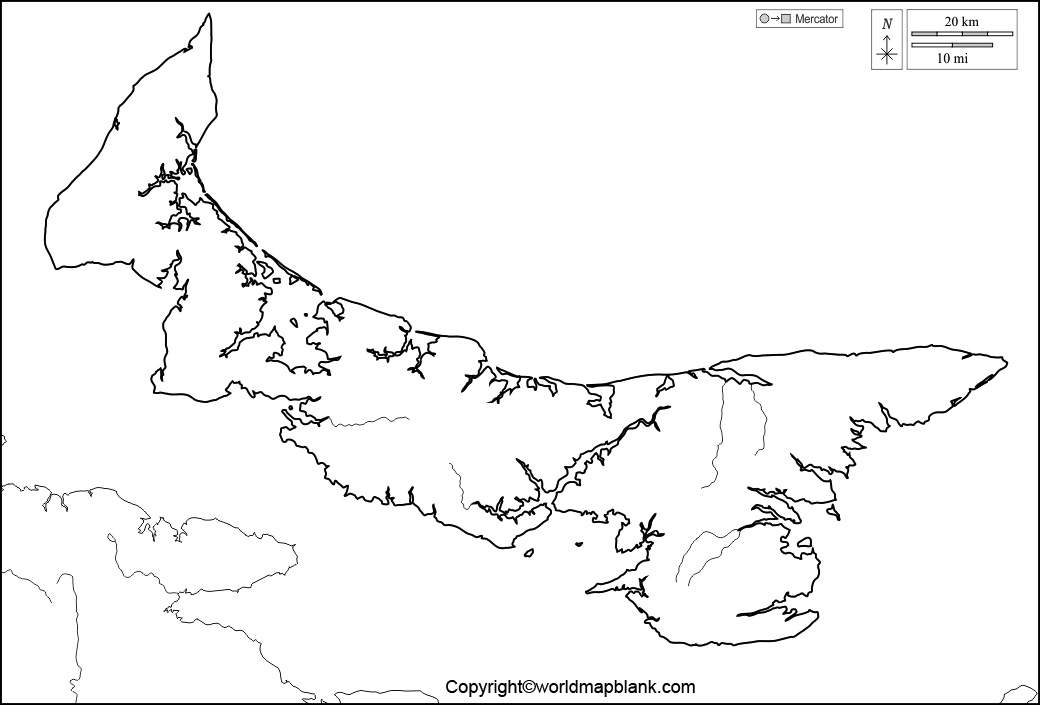 Printable Map of Prince Edward Island