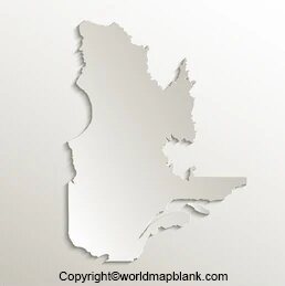 Printable Map of Quebec