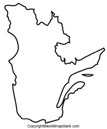 Blank Map of Quebec