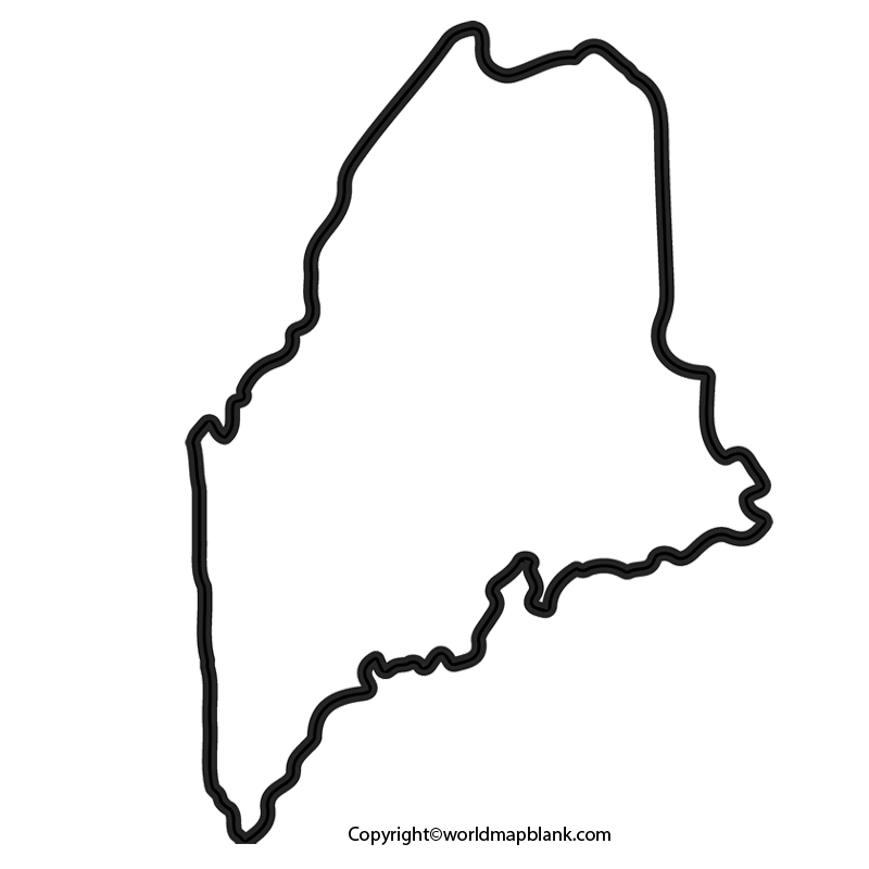 Transparent PNG Blank Map of Maine