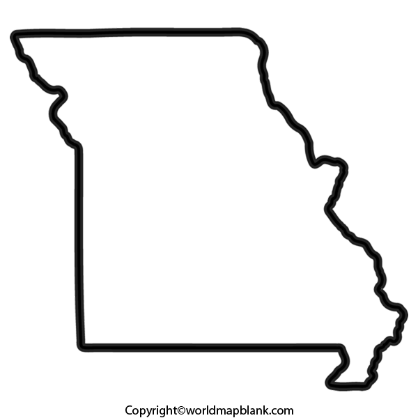 Transparent PNG Blank Map of Missouri