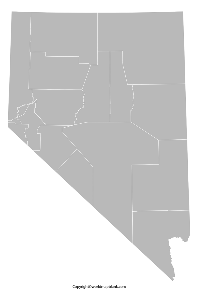 Blank Map of Nevada - Outline