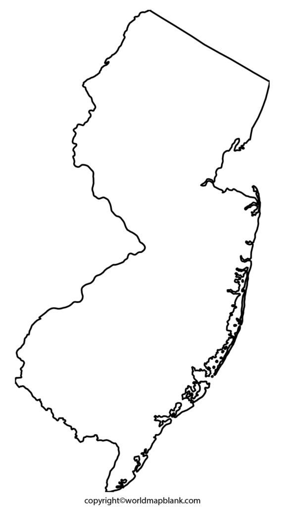 Transparent PNG Blank Map New Jersey