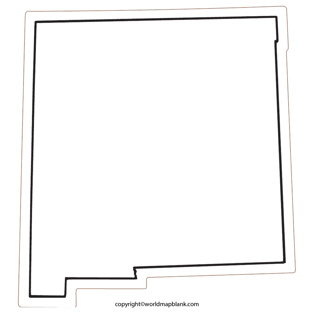 Transparent PNG Blank Map of New Mexico