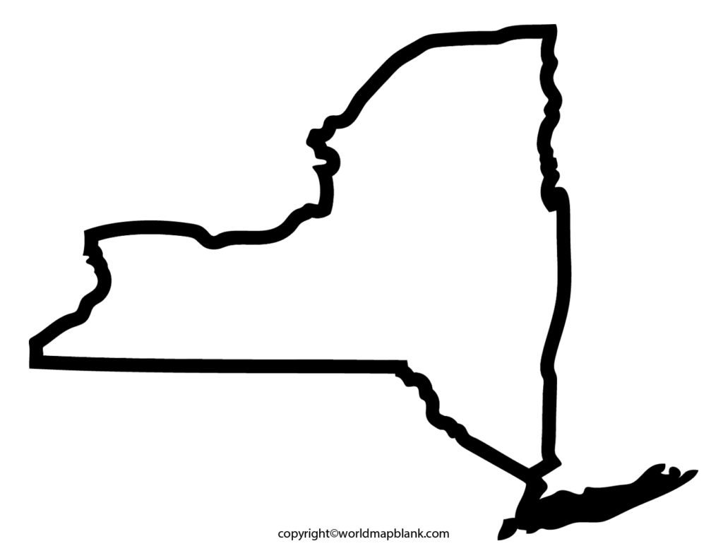 Transparent PNG Blank Map of New York