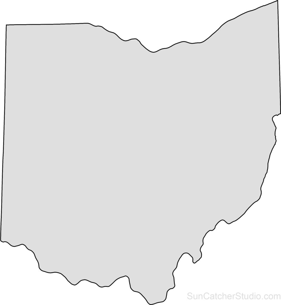 Transparent PNG Blank Map of Ohio