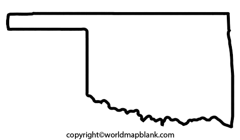 Transparent PNG Blank Map of Oklahoma