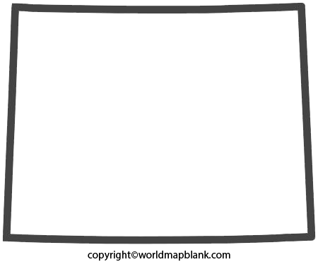 Transparent PNG Blank Map of Wyoming